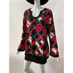 Chain Link Look Plus sz Tunic Top Style# BR23625BG